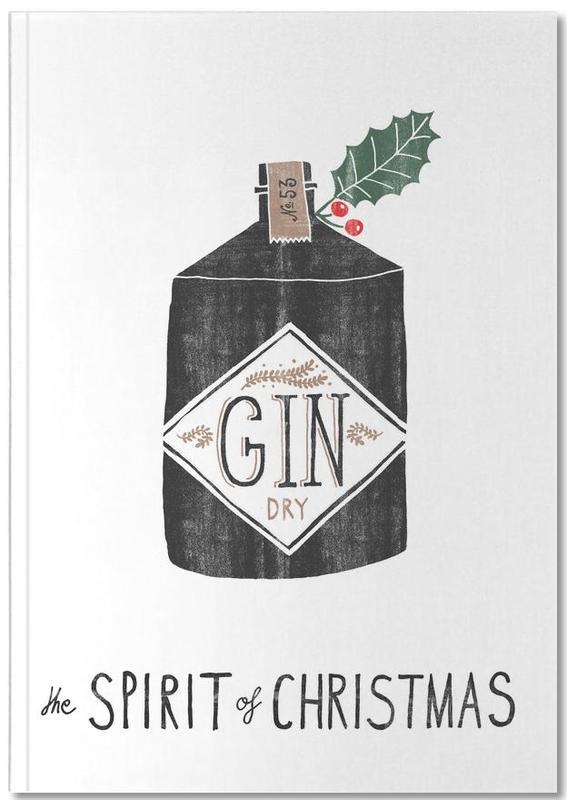 Christmas, Cocktails, Spirit of Christmas No. 2 Notebook