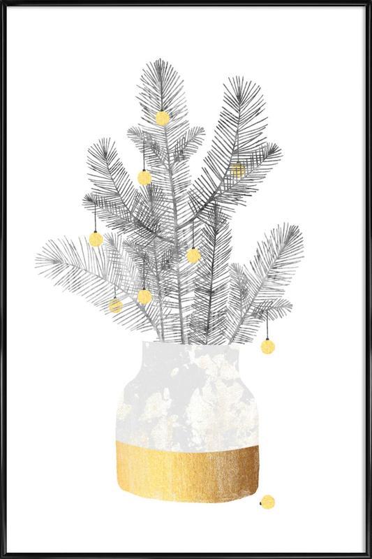 Urban Christmas No. 1 -Bild mit Kunststoffrahmen
