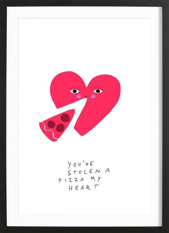 A Pizza My Heart ingelijste print