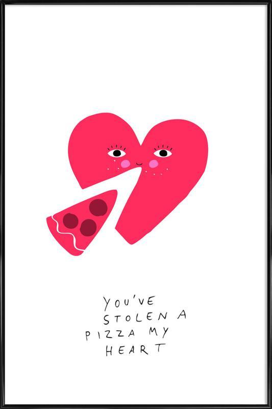 A Pizza My Heart -Bild mit Kunststoffrahmen