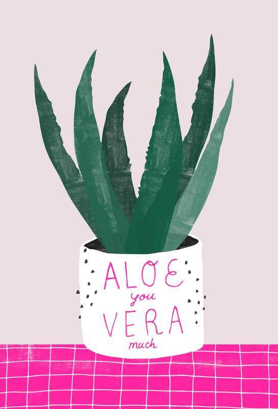 Aloe Vera Aluminium Print