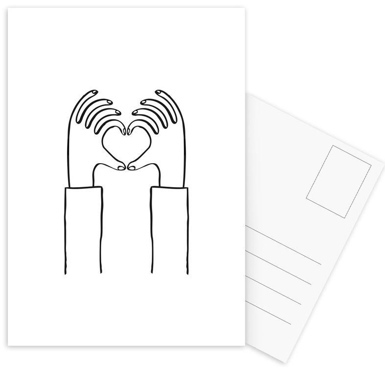 Schwarz & Weiß, Valentinstag, Heart You -Postkartenset