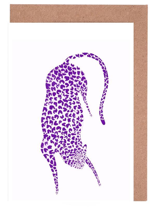 Leoparden, Leonard No.2 -Grußkarten-Set