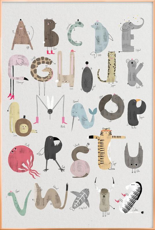 ABC Kids -Poster im Alurahmen