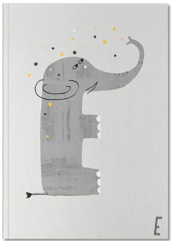 Alphabet & Letters, Nursery & Art for Kids, Elephants, ABC Kids - E Notebook
