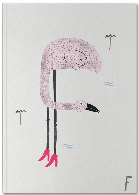 Kinderzimmer & Kunst für Kinder, Flamingos, Alphabet & Buchstaben, ABC Kids - F Notebook