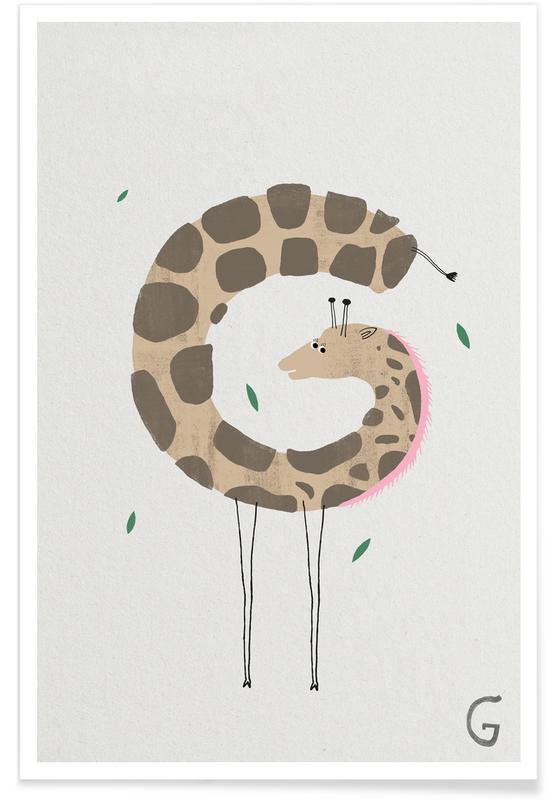 Animal Alphabet G Poster