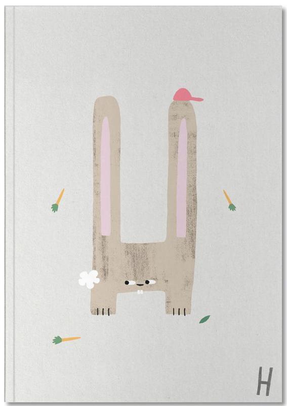 Pâques, Alphabet et lettres, Lapins, Art pour enfants, ABC Kids - H Notebook
