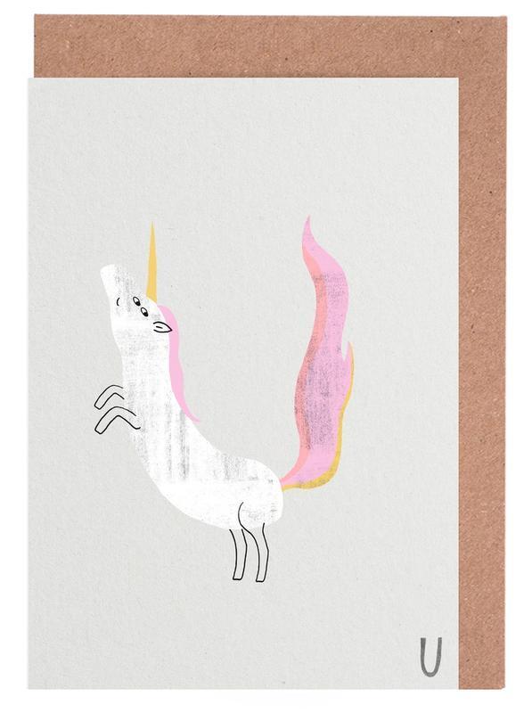 ABC Kids - Unicorn -Grußkarten-Set