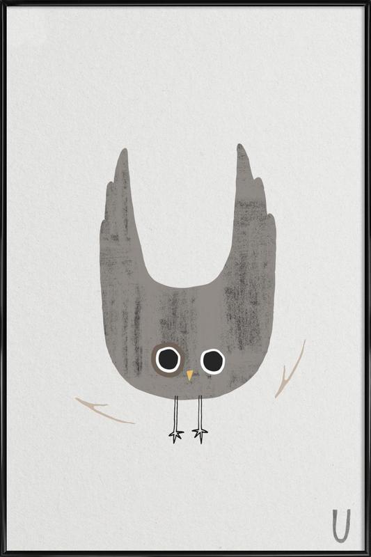 ABC Kids - U Framed Poster