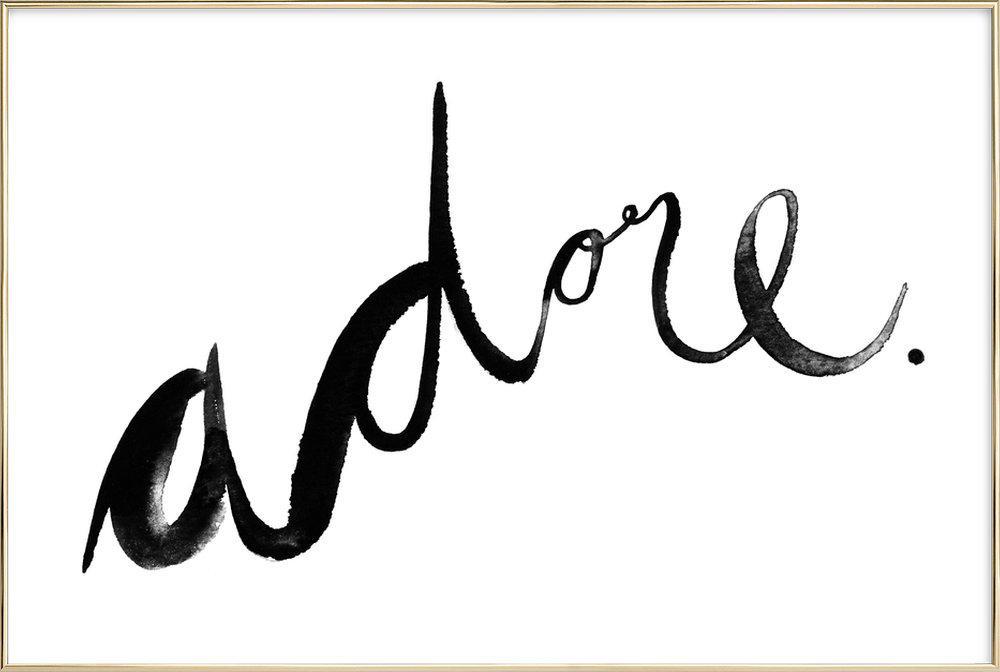 Adore -Poster im Alurahmen