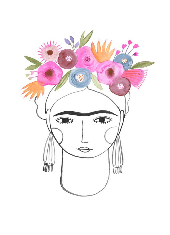 Beautiful Frida canvas doek