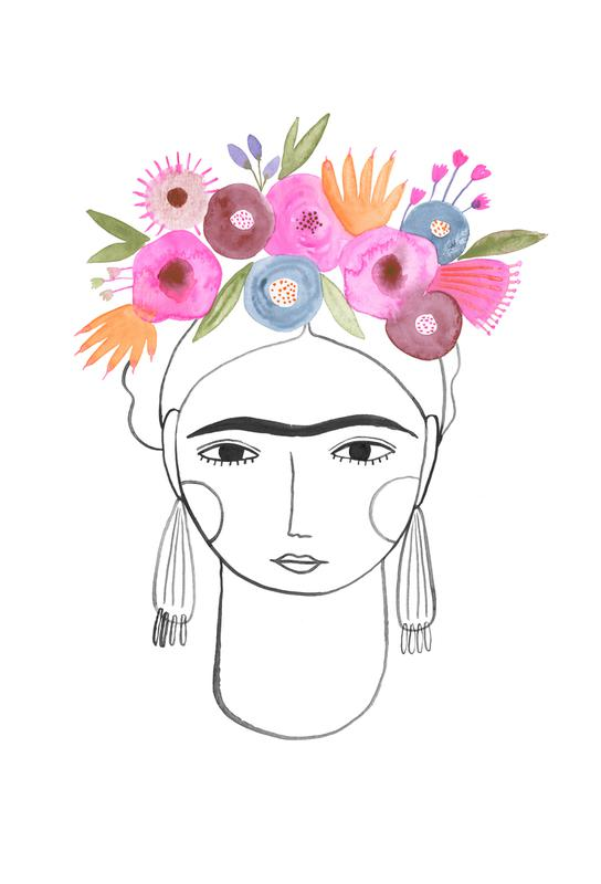 Beautiful Frida alu dibond