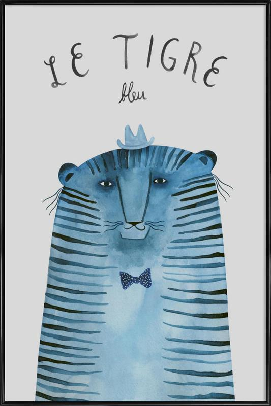 French Animals Tigre ingelijste poster