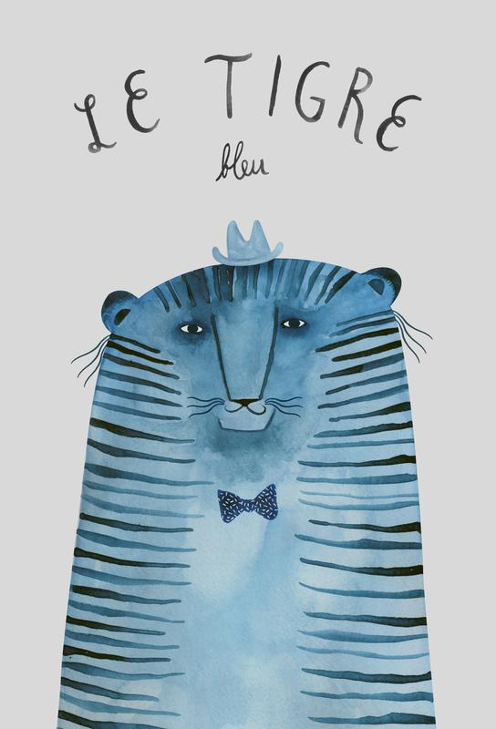 French Animals Tigre Aluminium Print