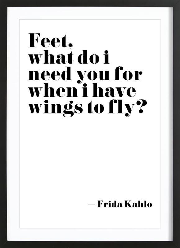 Frida Says ingelijste print