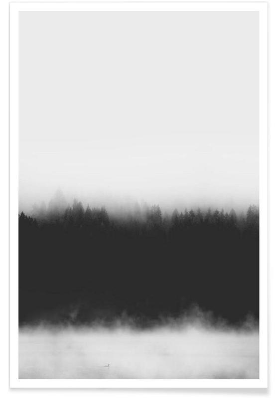 Black & White, Forests, Landscape No. 37 Poster
