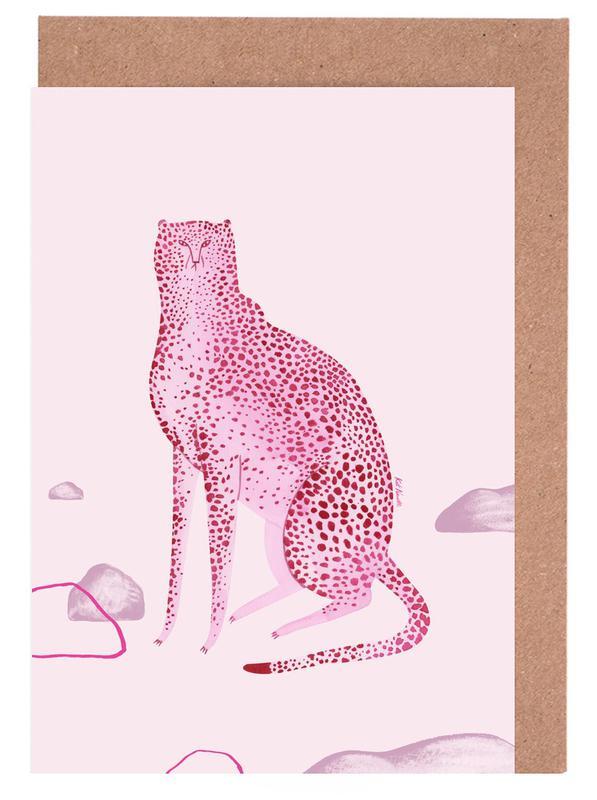 Leoparden, Wild Cats No.1 -Grußkarten-Set