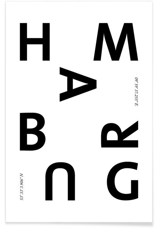 Schwarz & Weiß, Hamburg, Cities - Hamburg -Poster