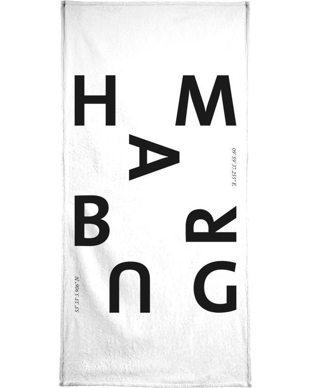 Black & White, Hamburg, Cities - Hamburg Bath Towel