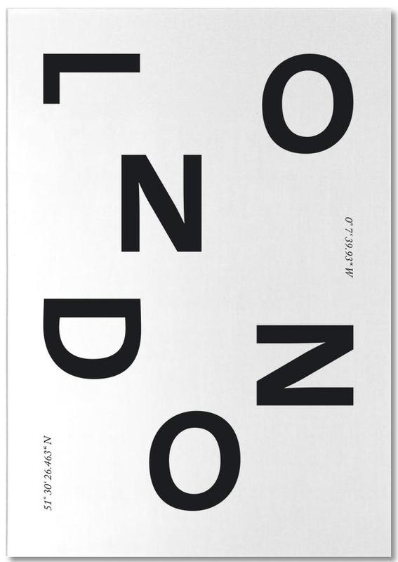 Black & White, London, Cities - London Notepad