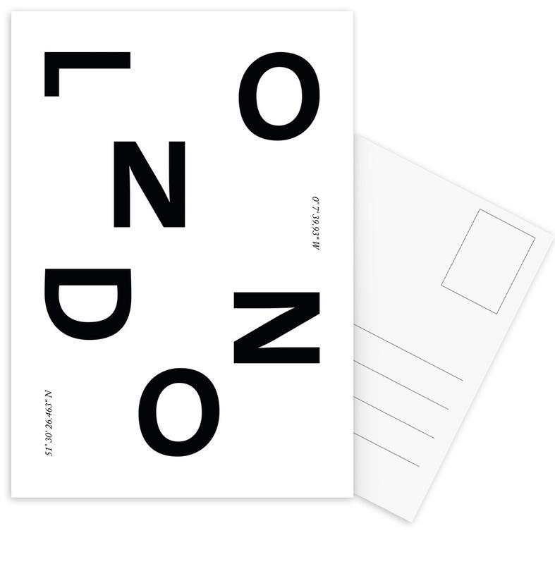 Black & White, London, Cities - London Postcard Set