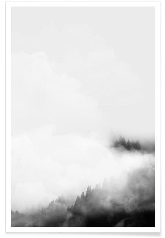 Schwarz & Weiß, Wälder, Landscape No. 40 -Poster
