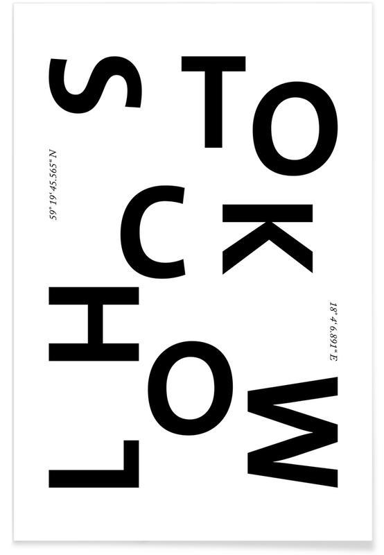 Schwarz & Weiß, Stockholm, Cities - Stockholm -Poster