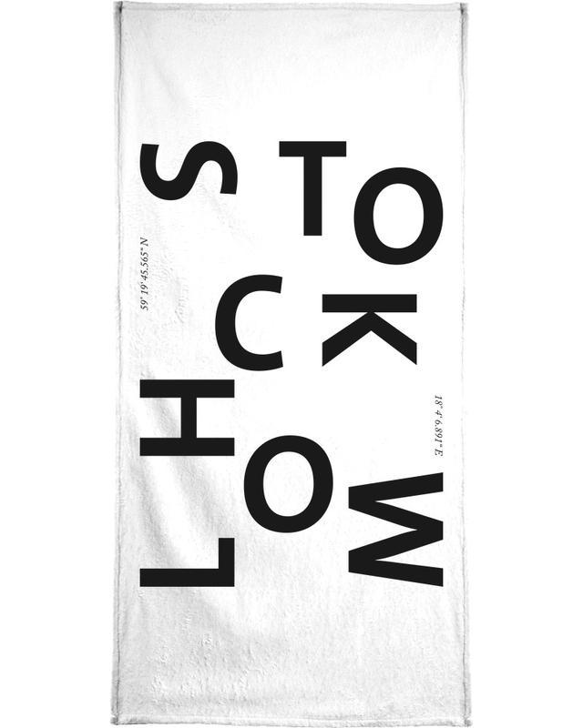 Cities - Stockholm Bath Towel