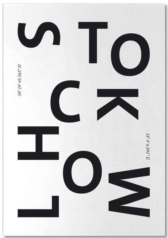 Noir & blanc, Stockholm, Cities - Stockholm bloc-notes