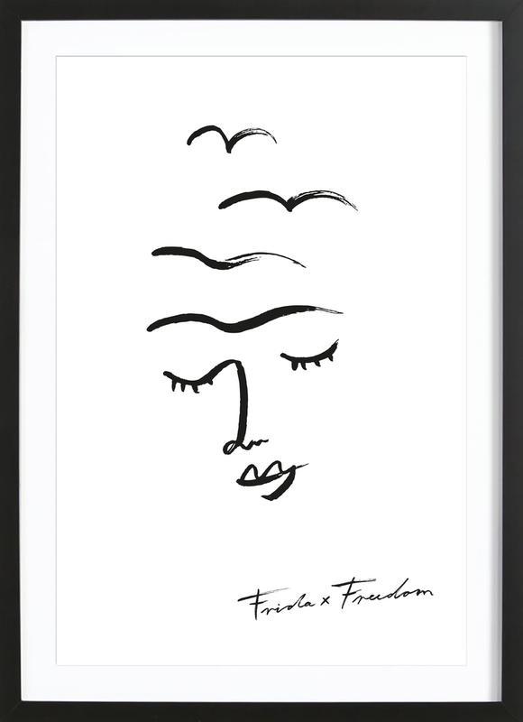 Frida X Freedom -Bild mit Holzrahmen