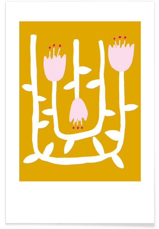Kinderzimmer & Kunst für Kinder, Flowery 07 -Poster