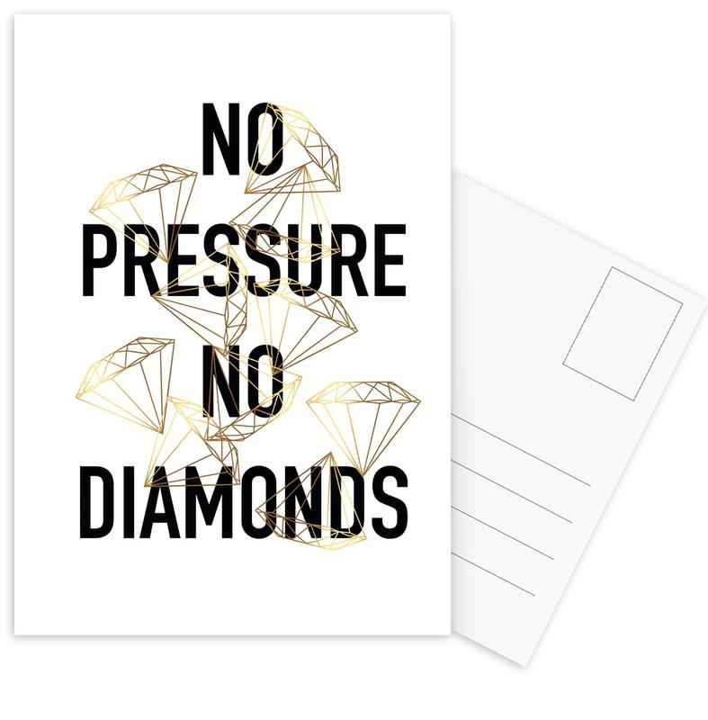 No Pressure Postcard Set