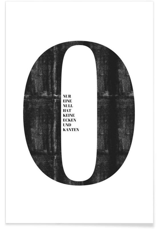 Zwart en wit, Cijfers, Quotes en slogans, Null poster