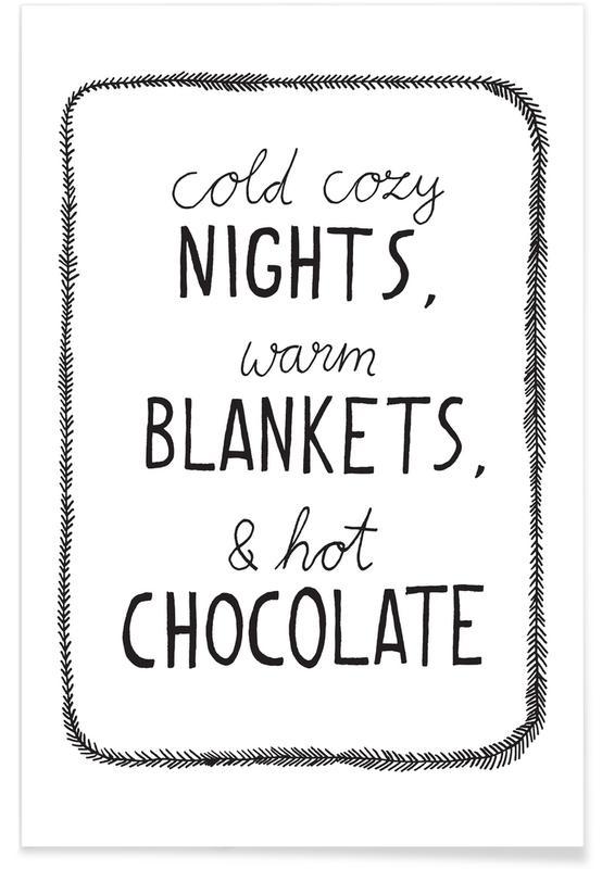 Schwarz & Weiß, Hot Chocolate -Poster