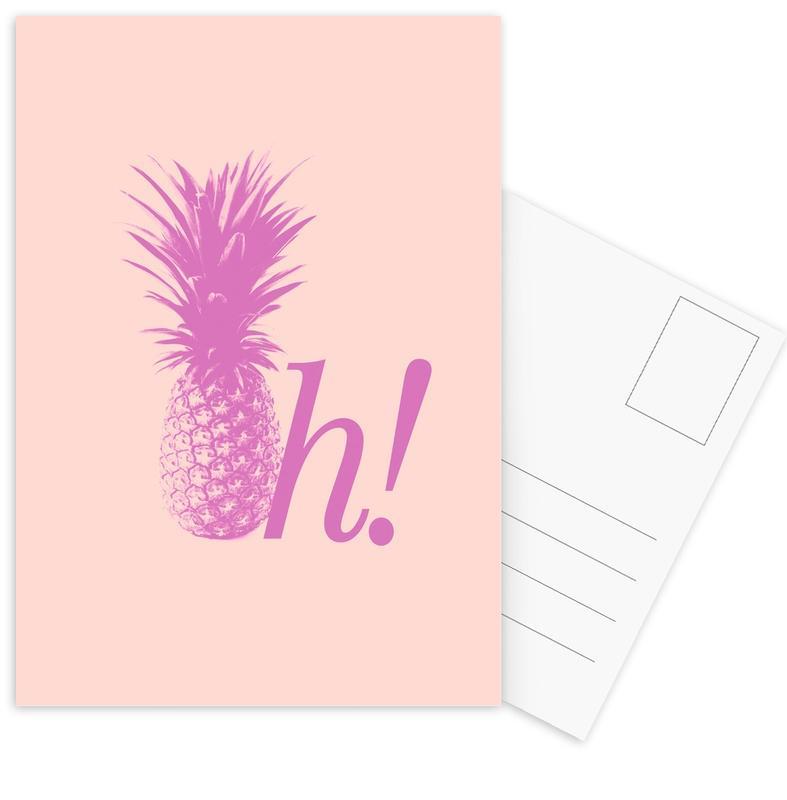 Pineapples, Oh! Postcard Set