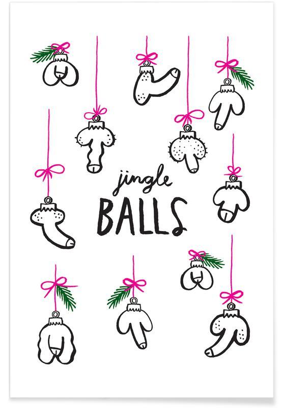 Nude, Christmas, Jingle Balls Poster