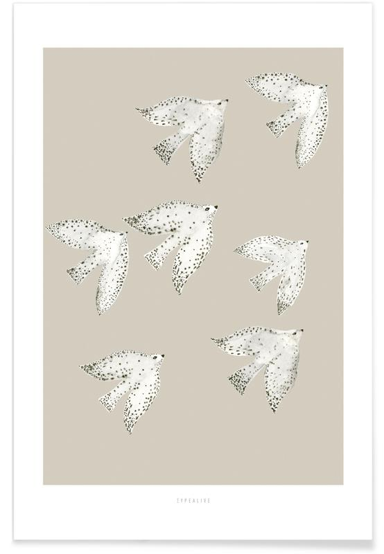 , Birds With Dots Poster