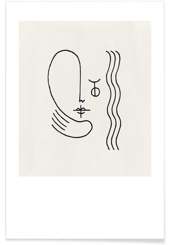 Portraits, Faces No. 5 Poster