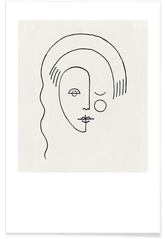 Portraits, Faces No. 3 Poster
