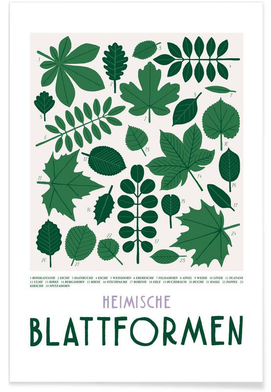 Feuilles & Plantes, Blattformen affiche