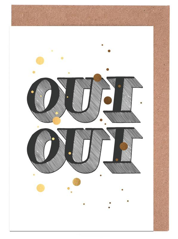Oui Oui -Grußkarten-Set
