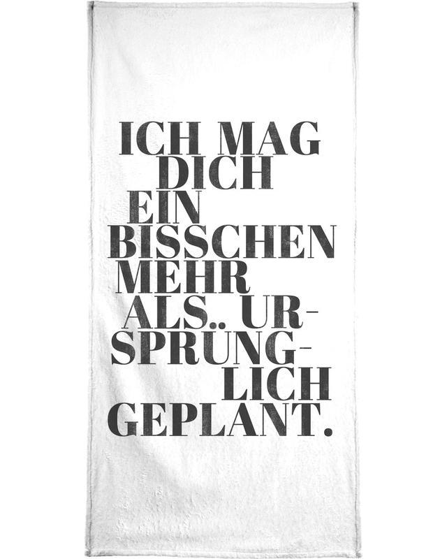 Geplant -Handtuch