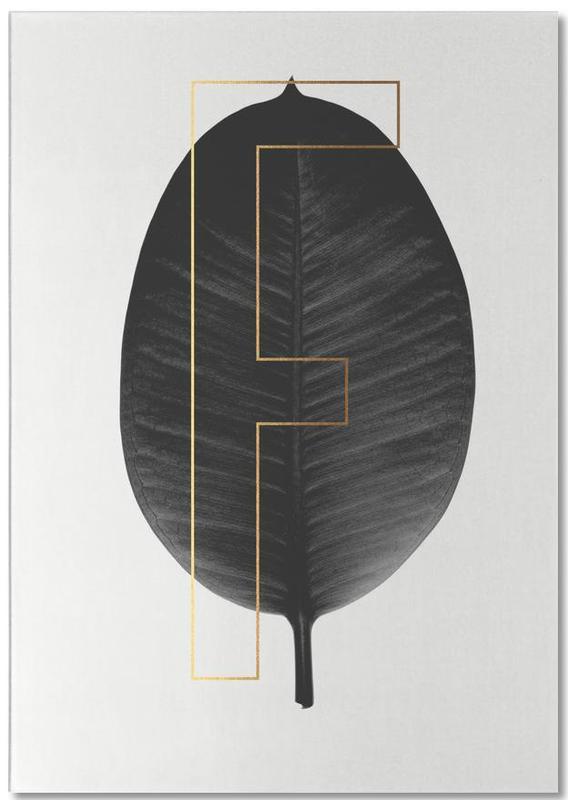 Alphabet et lettres, Feuilles & Plantes, Plants F bloc-notes
