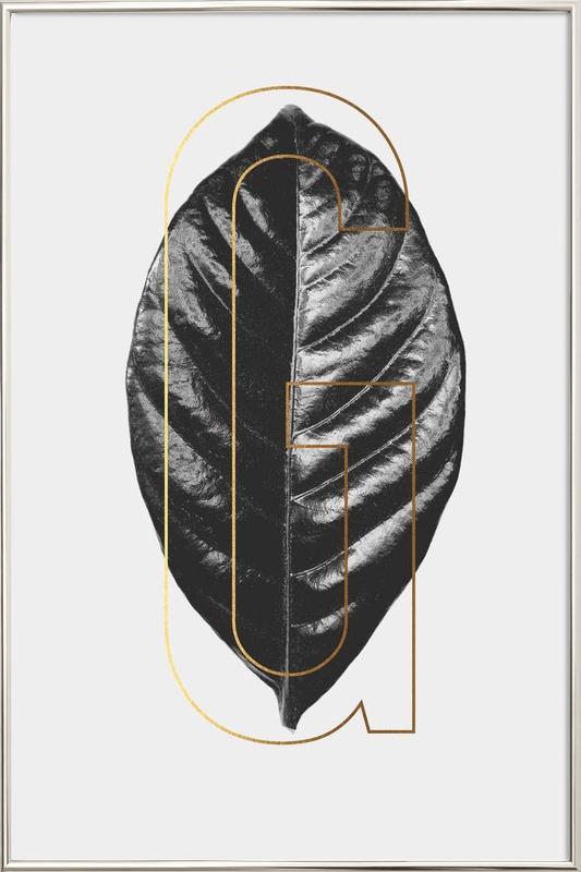Plants G Poster in Aluminium Frame