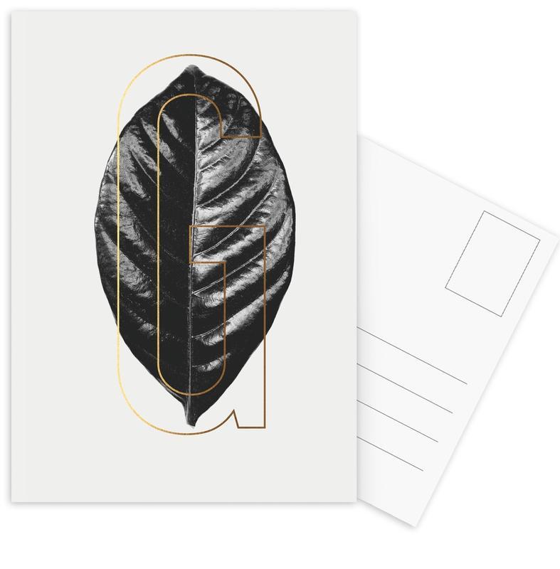 Plants G -Postkartenset