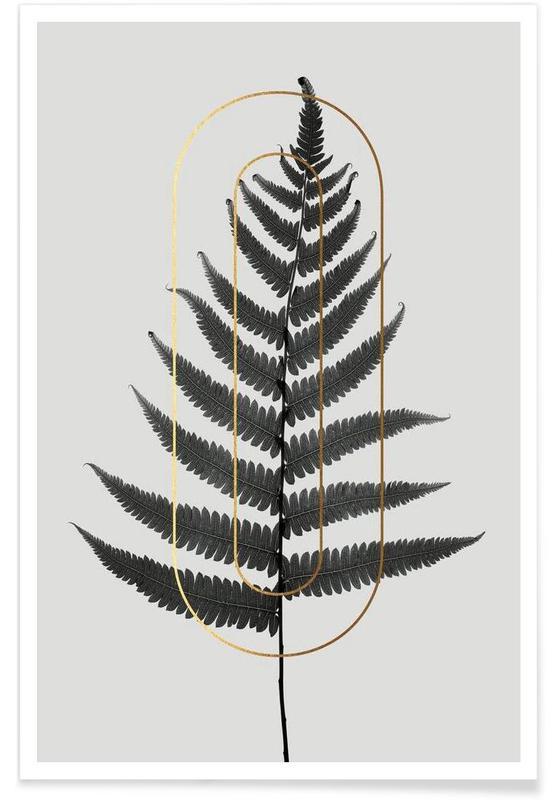 Alphabet et lettres, Feuilles & Plantes, Plants O affiche