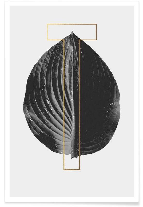 Alfabet en letters, Bladeren en planten, Plants T poster