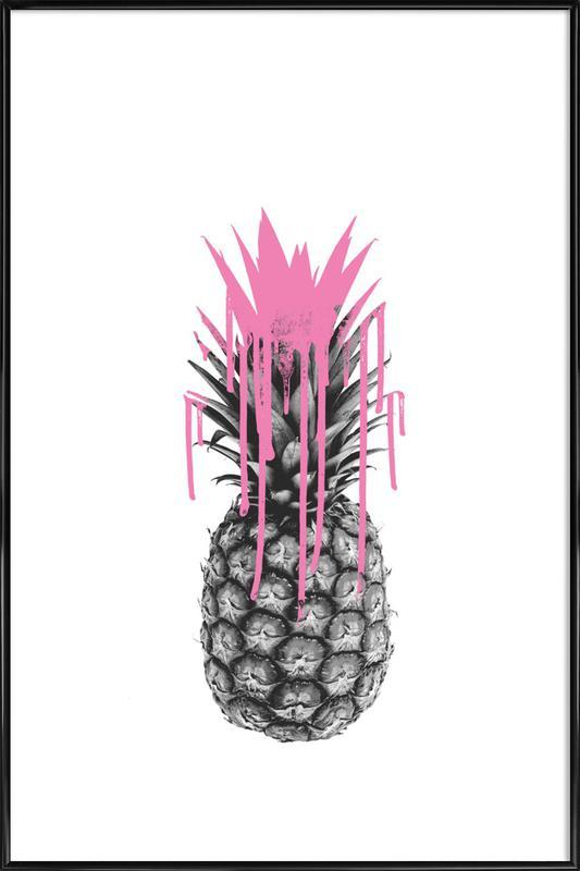 Pink Ananas Framed Poster