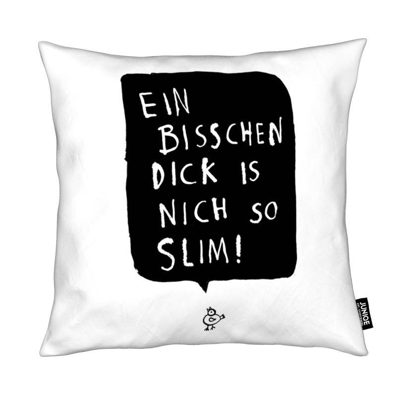 Noir & blanc, Humour, Citations et slogans, Slim coussin